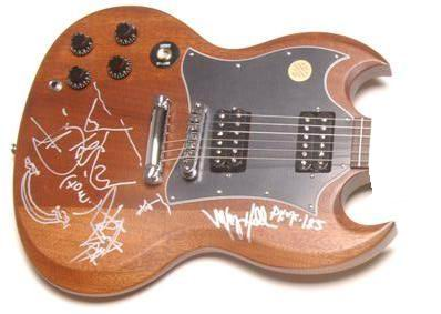 Gibson Electric Guitar autografata da Tom & Mark
